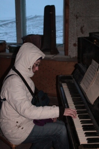 Playing the world's northernmost piano