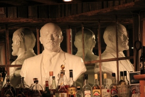 The nearly-northernmost bust of Lenin looks out over the bar at Kroa